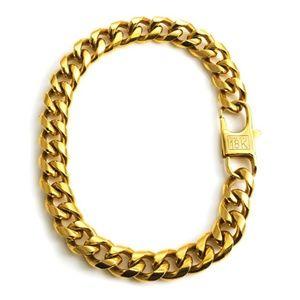 """Mens """"Marc"""" Real 18K Gold Plated Cuban Bracelet"""